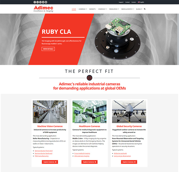 Industrial Website Redesign