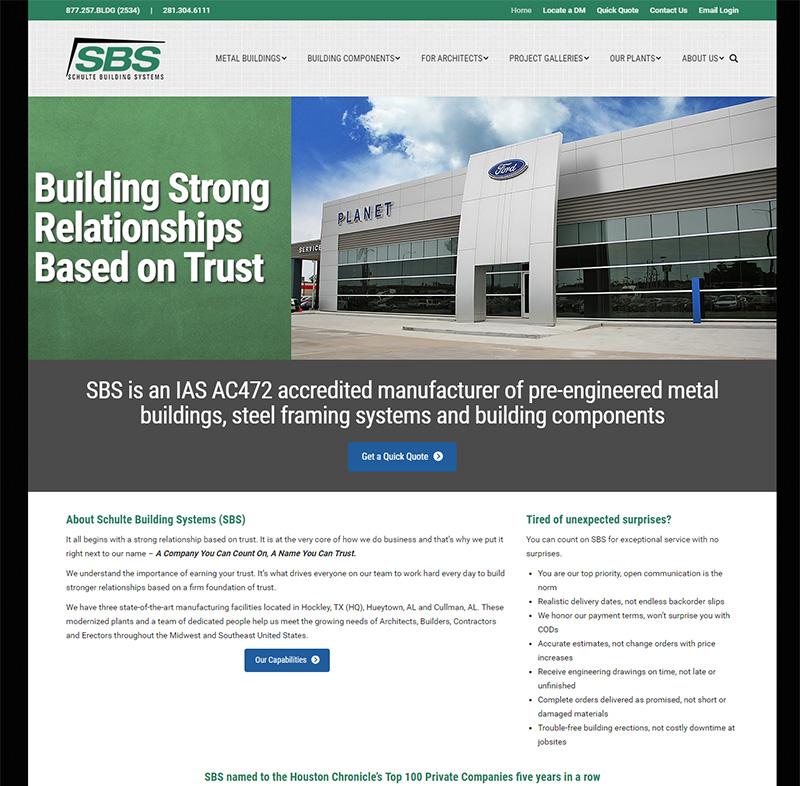 Client: Schulte Building Systems, Inc.