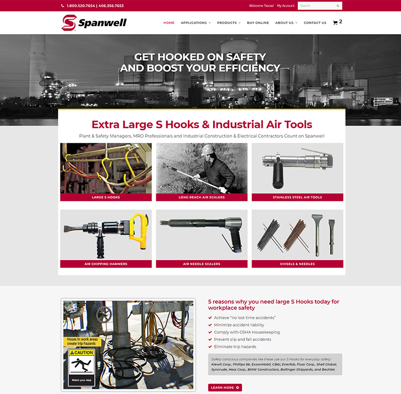 Industrial website redesign - Spanwell